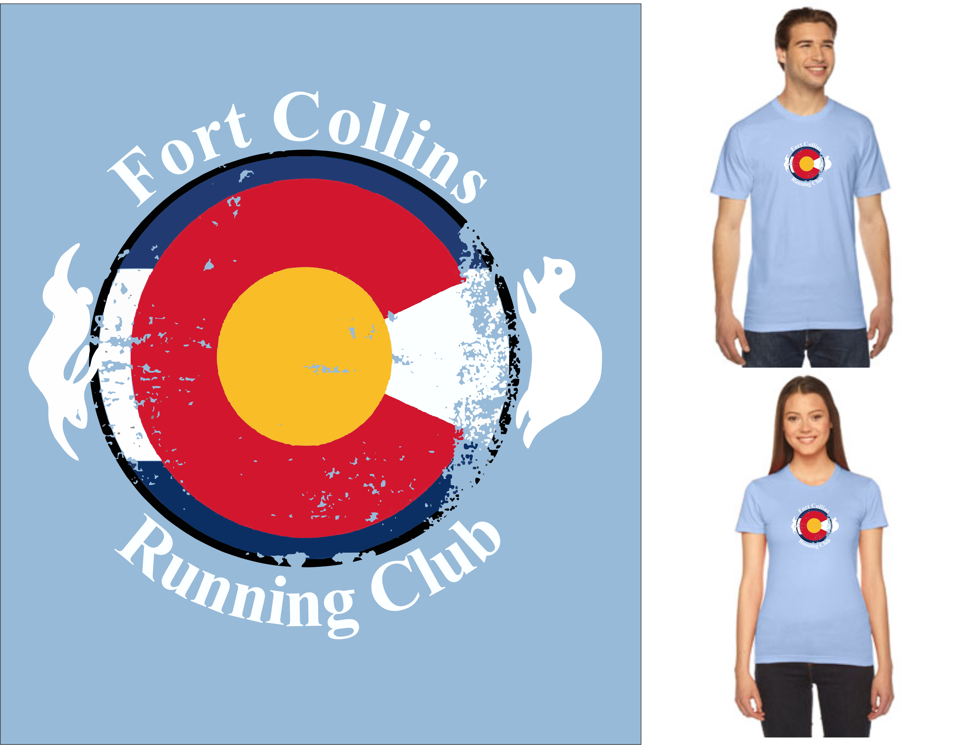 FCRC Colorado Flag AA tee