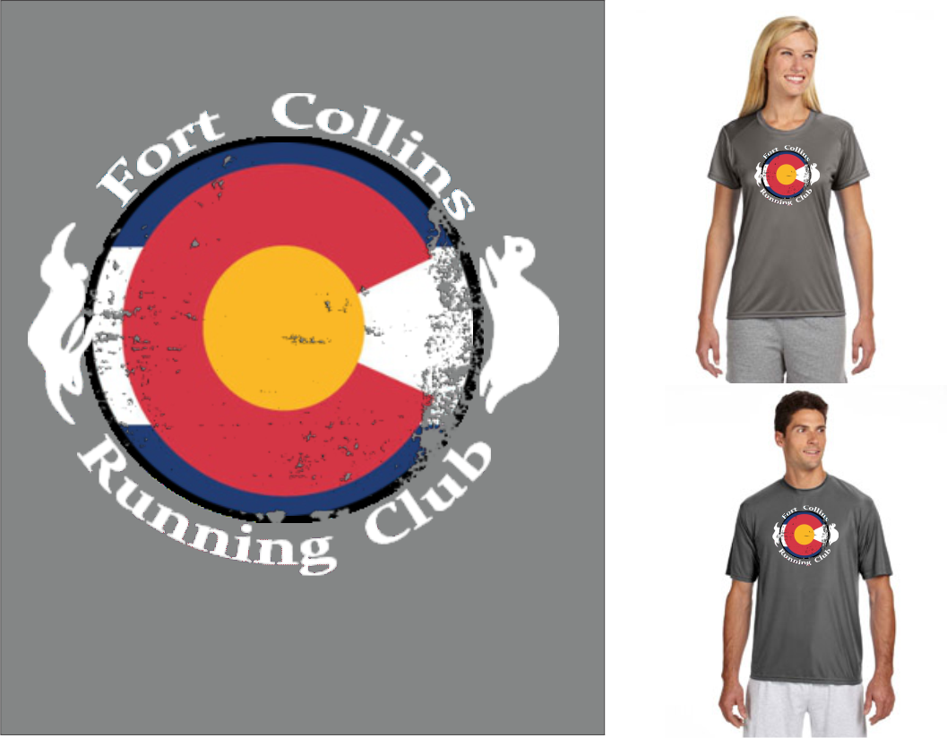 FCRC Colorado Flag poly tee